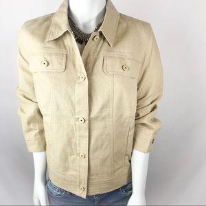 ISAAC MIZRAHI Linen Utility Jacket
